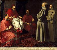The Blessed Giles Levitating before Pope Gregory IX, 1646, murillo