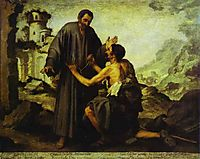 Brother Juniper and the Beggar, murillo