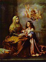 Childhood of Virgin, c.1665, murillo