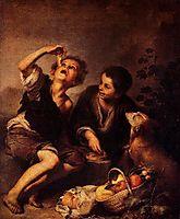 Children Eating a Pie, 1675, murillo