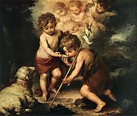 Children with Shell, 1670, murillo
