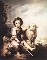 Christ the Good Shepherd, 1660, murillo