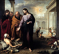 Christ at the Pool of Bethesda, 1670, murillo