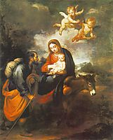 Flight into Egypt, 1650-1660, murillo