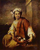 Flower Seller, 1670, murillo
