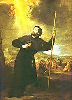 Francis Xavier, 1670, murillo