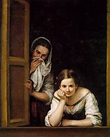A Girl and her Duenna, 1670, murillo