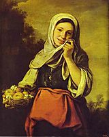 A Girl with Fruits, 1660, murillo