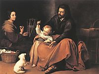 The Holy Family, 1650, murillo