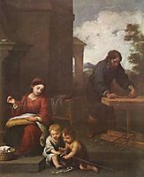 Holy Family with the Infant Saint John, 1650-1660, murillo