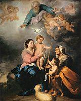 The Holy Family (The Seville Virgin), 1670, murillo