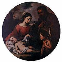Holy Family with the Infant Saint John, 1655, murillo