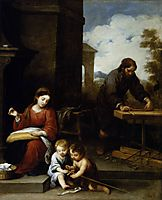 The Holy Family with the Infant St. John the Baptist, 1670, murillo