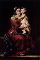 The Virgin of the Rosary, 1650, murillo