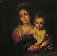 Madonna with a Napkin, murillo