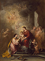 The Mystic Marriage of Saint Catherine, 1682, murillo