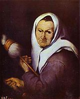 Old Woman with Distaff , c.1642, murillo