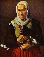 Old Woman with a Hen, murillo