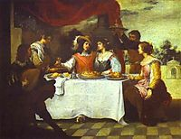 The Prodigal Son Feasting with Courtesans, 1660, murillo