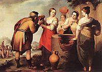 Rebecca and Eliezer, 1650, murillo