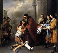 Return of the Prodigal Son, 1670, murillo