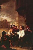 Saint Thomas of Villanueva dividing his clothes among beggar boys, c.1667, murillo