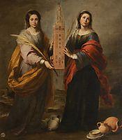 St. Justina and St. Rufina, 1675, murillo