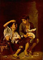 Two Children Eating a Melon and Grapes, 1646, murillo