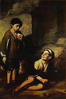 Two Peasant Boys, 1670, murillo