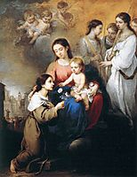 The Virgin and Child with St. Rosalina, 1670, murillo