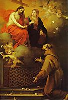 The Vision to St. Francis at Porziuncola, c.1667, murillo