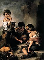 Young Boys Playing Dice, 1675, murillo