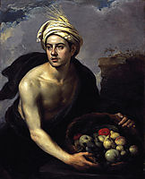 A Young Man with a Basket of Fruit , 1640, murillo