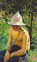 Boy in the garden, 1898, musatov