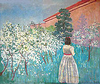 A garden in Blossom, c.1900, musatov