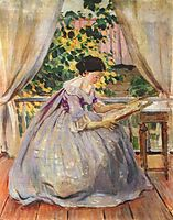 Lady Embroidering, 1901, musatov