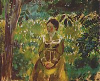 Lady in a Garden, c.1903, musatov