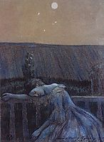 On a Balcony, 1899, musatov