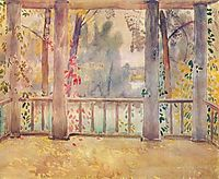 On a Balcony in Tarusa, 1905, musatov