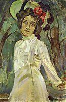 Portrait of Nadezhda Staniukovich, 1903, musatov