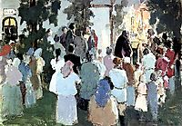 Prayer on the railway station, 1894, musatov
