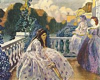 Three Ladies on the Terrace, 1903, musatov