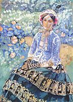 Woman in Blue Dress, c.1903, musatov