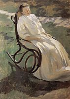 Woman in rocking chair, 1897, musatov