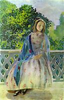 Young Girl on the Balcony, 1900, musatov