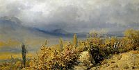 Autumn landscape in Crimea, 1884, myasoyedov