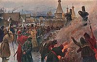 The burning of Archpriest Avvakum, 1897, myasoyedov