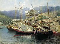 Enbarkement in Yalta, 1890, myasoyedov