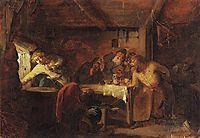 Escape of Grigory Otrepyev from inn on the Lithuanian border, 1862, myasoyedov