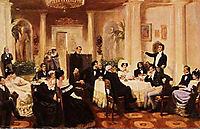 In the salon of Zenaida Volkonskaya, 1907, myasoyedov